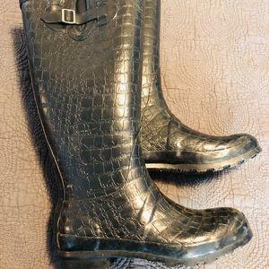 Like New Knee High Rain Boots